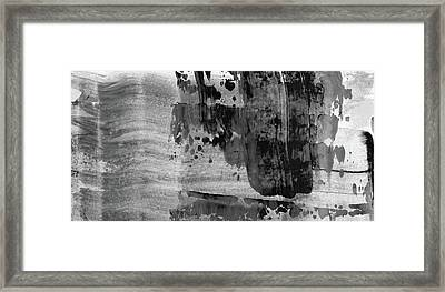 Time Of Decision - Large Modern Black And White Abstract Painting Framed Print by Modern Art Prints