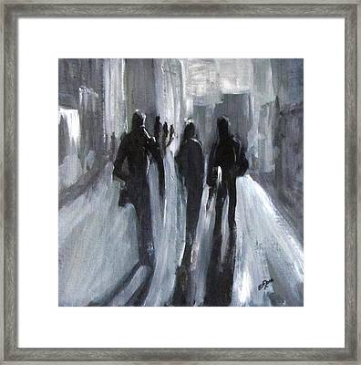 Time Of Long Shadows Framed Print