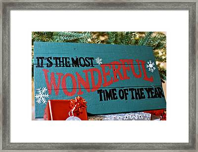 Time Of The Year Framed Print by Snow White