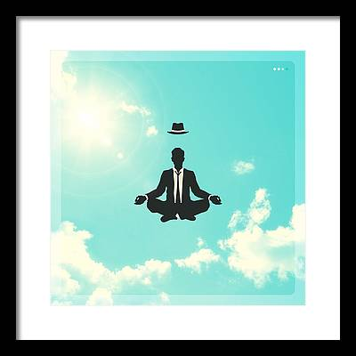 Sky Digital Art Framed Prints