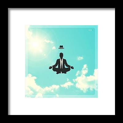Blue Sky Framed Prints