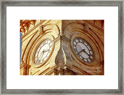 Framed Print featuring the photograph Time On My Side by Stephen Mitchell