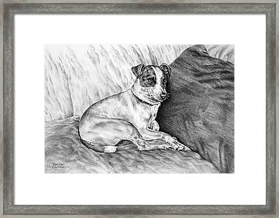 Time Out - Jack Russell Dog Print Framed Print by Kelli Swan