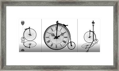 Time To Ride Penny Farthing Panoramic Framed Print