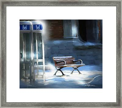 Time Passages - Call Waiting Framed Print by Bob Salo