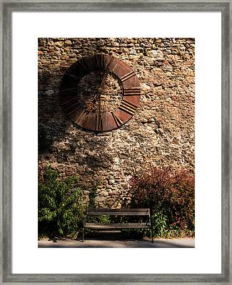 Time Passes Framed Print by Rae Tucker