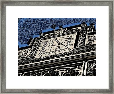 Time Piece Comic Framed Print