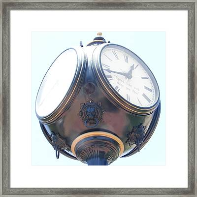 Time Piece Framed Print