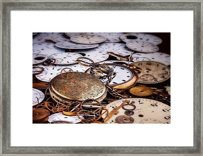 Time Pieces Framed Print by Tom Mc Nemar