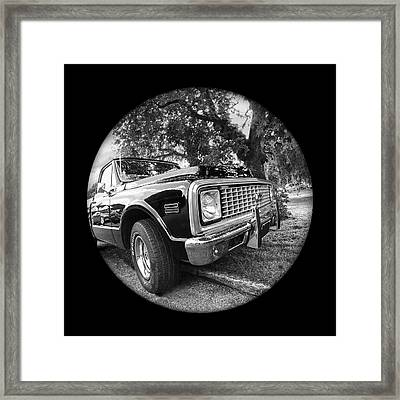 Time Portal - '71 Chevy Framed Print