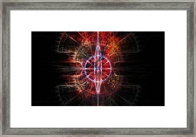 Time Portal Framed Print by Rhonda Barrett