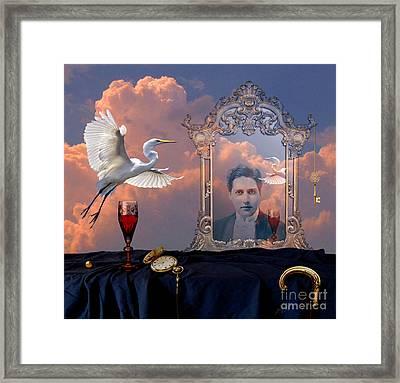 Framed Print featuring the digital art Time Reflection by Alexa Szlavics