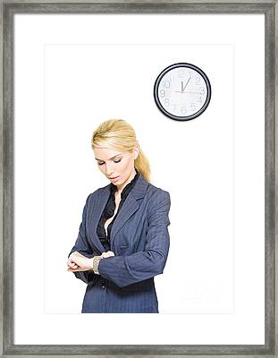 Time Schedule Framed Print