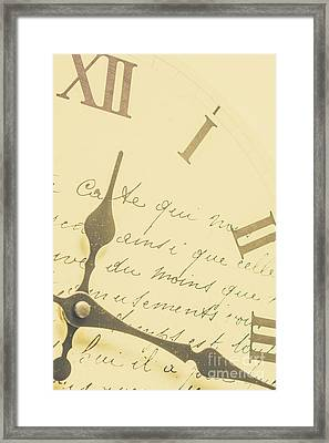 Time Signatures Framed Print by Jorgo Photography - Wall Art Gallery