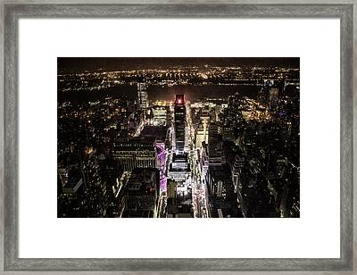 Time Square From Above Framed Print