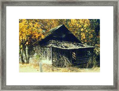 Time Tells All Framed Print by Shasta Eone