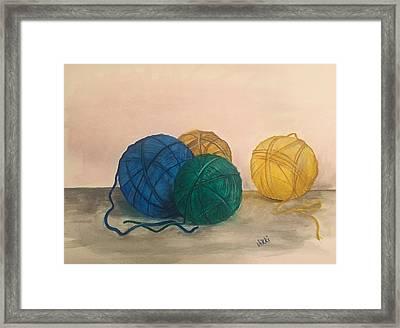 Time To Crochet Framed Print