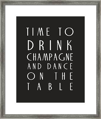 Time To Drink Champagne Framed Print by Georgia Fowler