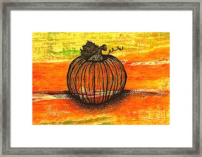 Time To Get Pumkin Framed Print