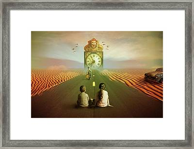 Framed Print featuring the digital art Time To Grow Up by Nathan Wright