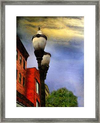 Time To Light The Lamps Framed Print by RC deWinter
