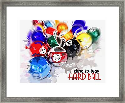 Time To Play Hard Ball White Framed Print