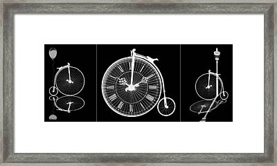 Time To Ride Panoramic On Black Framed Print