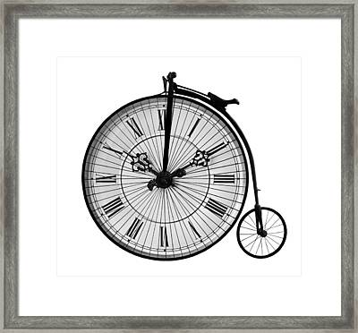 Time To Ride Penny Farthing Framed Print