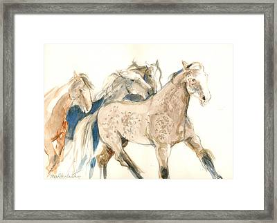Time To Run Framed Print by Mary Armstrong