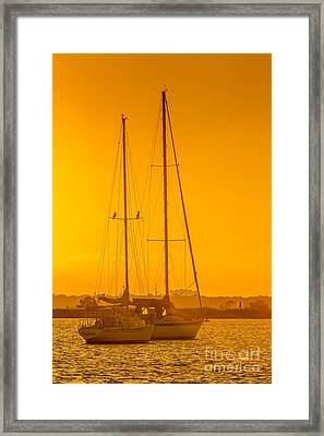 Time To Sail Framed Print by Marvin Spates