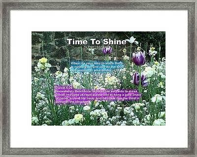 Time To Shine Framed Print