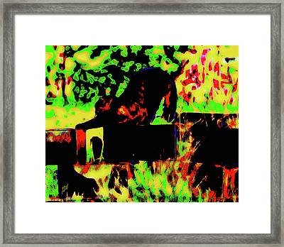 Time To Stretch Framed Print by Gina O'Brien