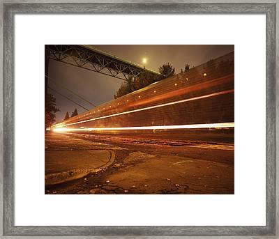 Time Train Framed Print by Benjamin Garvey