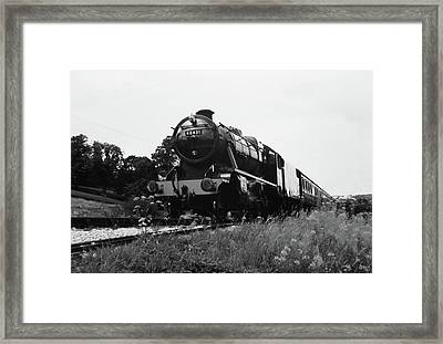 Time Travel By Steam B/w Framed Print