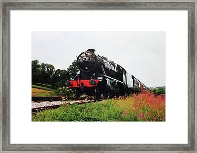 Time Travel By Steam Framed Print