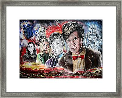 Time Travel Space Edit Version Framed Print