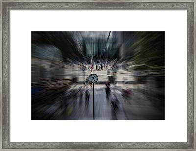 Time Traveller Framed Print by Martin Newman