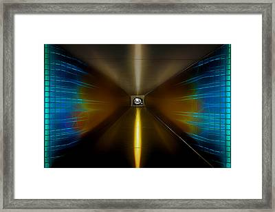 Time Tunnel Portal To 1906 Framed Print