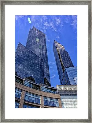 Time Warner Center Nyc Framed Print