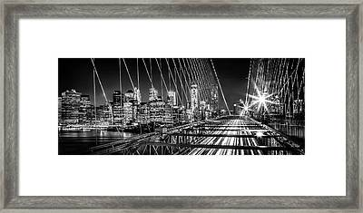 Time Warp City Framed Print