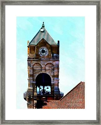 Framed Print featuring the photograph Time Will Tell - Scranton by Janine Riley