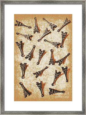 Time Worn Trinkets From Vintage Paris Framed Print by Jorgo Photography - Wall Art Gallery