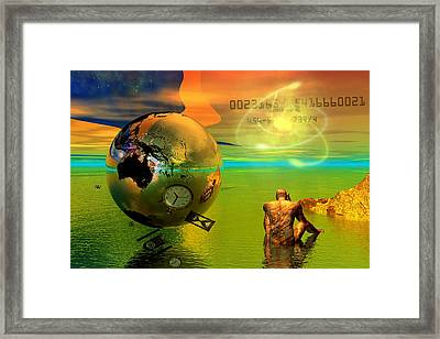 Framed Print featuring the digital art Time.......is Running Out by Shadowlea Is