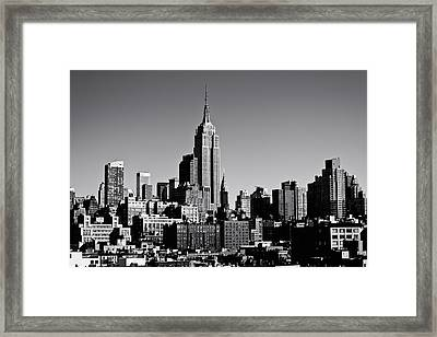 Timeless - The Empire State Building And The New York City Skyline Framed Print