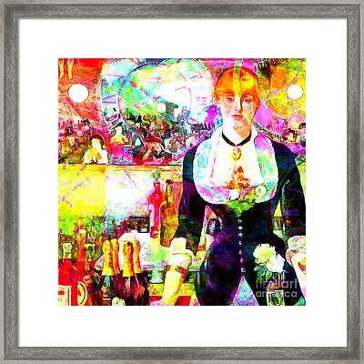 Timeless Art A Bar At The Den Folies Bergere 20160228 Square Framed Print by Wingsdomain Art and Photography