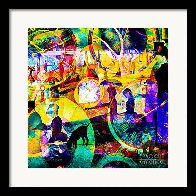 Jatte Digital Art Framed Prints
