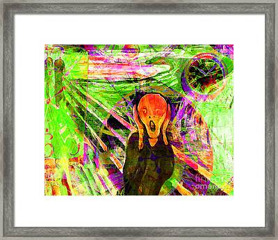 Timeless Art The Scream 20160305 Horizontal Framed Print by Wingsdomain Art and Photography