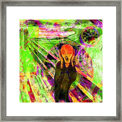 Timeless Art The Scream 20160305 Square Framed Print by Wingsdomain Art and Photography