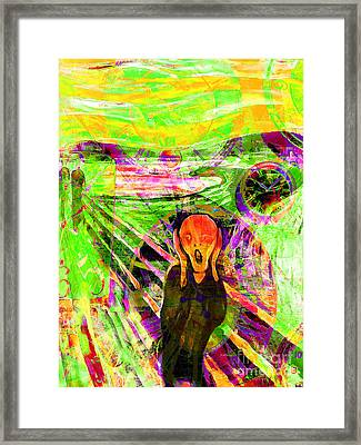 Timeless Art The Scream 20160305 Framed Print by Wingsdomain Art and Photography