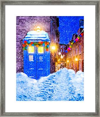 Timeless British Christmas Framed Print